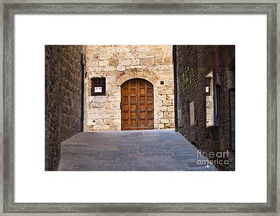 Streets Of San Gimignano Framed Print