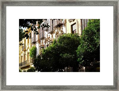 Streets Of Seville - Mateos Gago Framed Print by Andrea Mazzocchetti