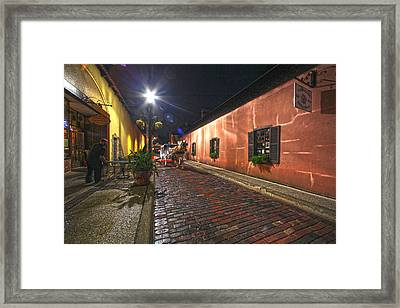 Streets Of St Augustine Framed Print