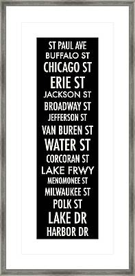 Streets Of Third Ward Milwaukee Framed Print