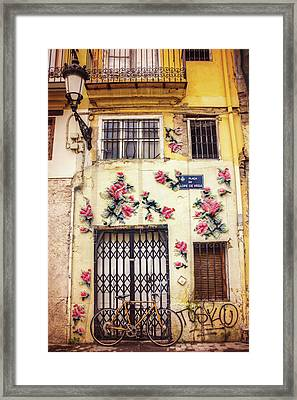 Streets Of Valencia  Framed Print