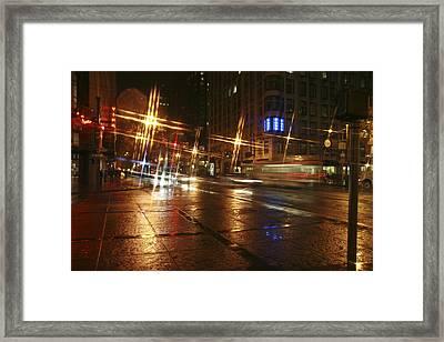 Streets Framed Print by Wes Shinn