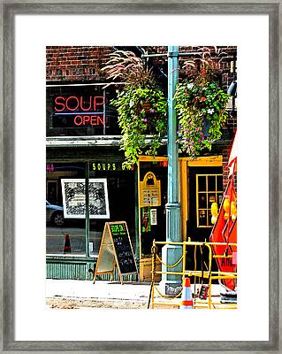 Streetscape 1 Soup Framed Print by Gary Everson