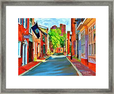 Streetscape In Federal Hill Framed Print by Stephen Younts
