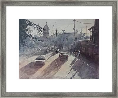 Streetscape Framed Print