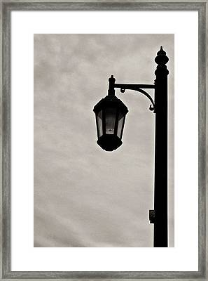 Streetwalker's Umbrella Framed Print by Sarita Rampersad