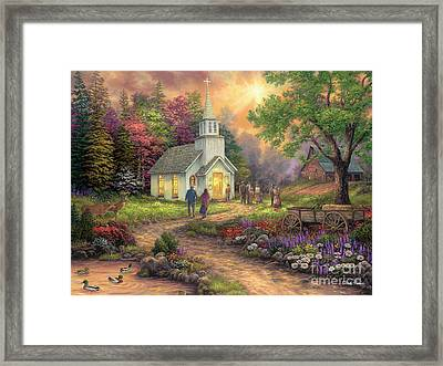 Strength Along The Journey Framed Print by Chuck Pinson