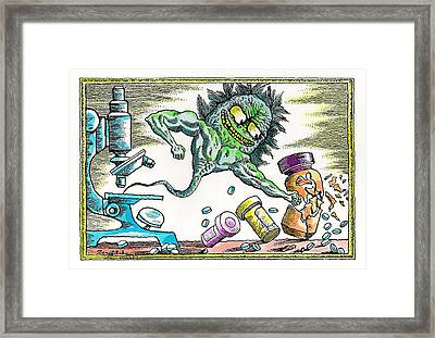 Strength Of The Virus Framed Print by Leon Zernitsky
