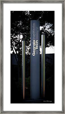 Strength Thru Learning 2georgia Tech Art Atlanta Art Framed Print by Reid Callaway