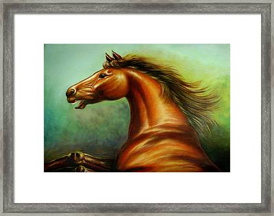 Strength Framed Print by Yuki Othsuka