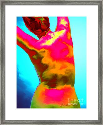 Stretch Back Framed Print by Everett White
