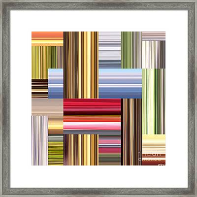 Stretch Of Colors Framed Print