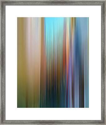 Stria Mediterranean Framed Print
