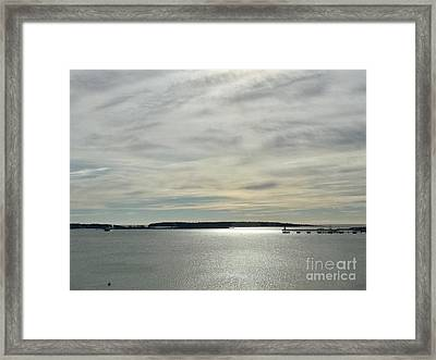 Striated Sky Over Casco Bay Framed Print
