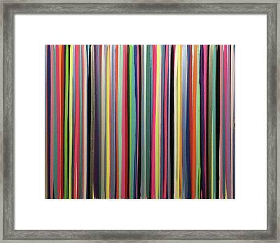 Striations Multi Framed Print by Margalit Romano