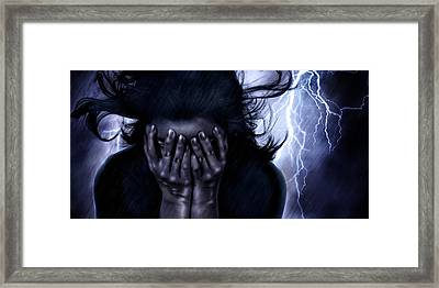 Stricken Framed Print by Laurie Hasan