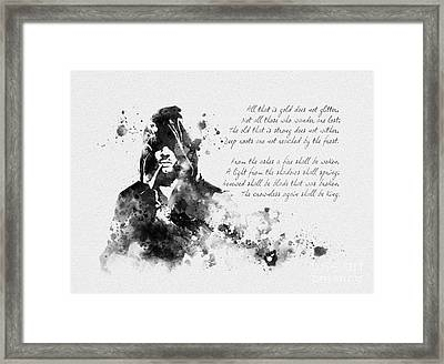 Strider Black And White Framed Print by Rebecca Jenkins