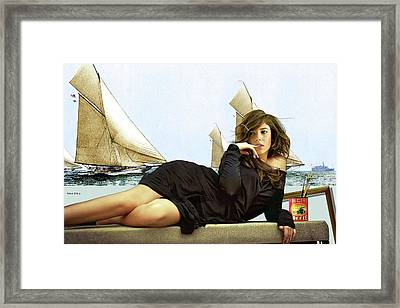 Art Models Wanted, Strike A Pose, Folgers Coffee, The Artist Salon, Lucy Bayet Framed Print by Thomas Pollart