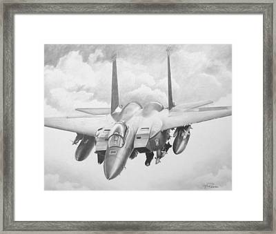 Strike Eagle Framed Print