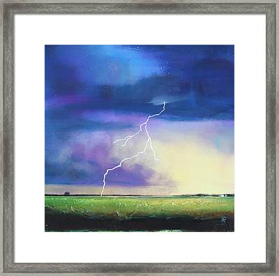 Strike From The Heavens Framed Print by Toni Grote