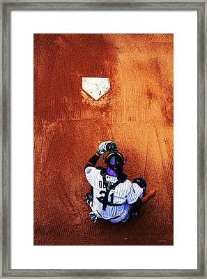 Strike Three Framed Print by Darryl Gallegos
