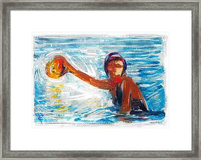 Striking Distance Framed Print by Russell Pierce