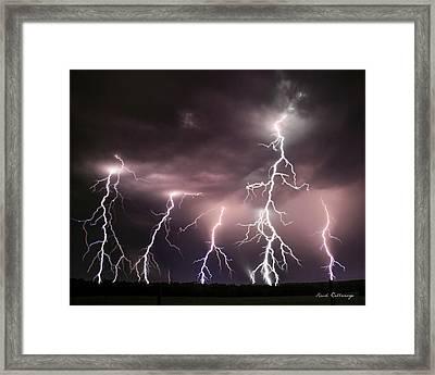 Striking Memories Thunderstorm Framed Print by Reid Callaway