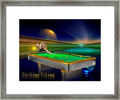 Striking Viking Framed Print by Draw Shots