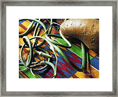 String Beans And Yam Framed Print by Sarah Loft
