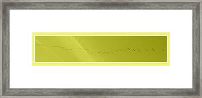 String Of Birds In Yellow Framed Print