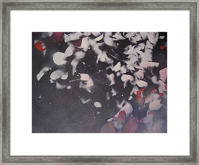Framed Print featuring the painting String Theory - Colored Leaves by Carrie Maurer