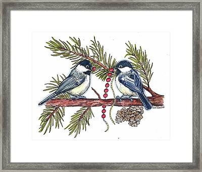 Stringing Garland Framed Print by Julie Townsend