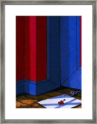 Strings Framed Print by Tom Dickson