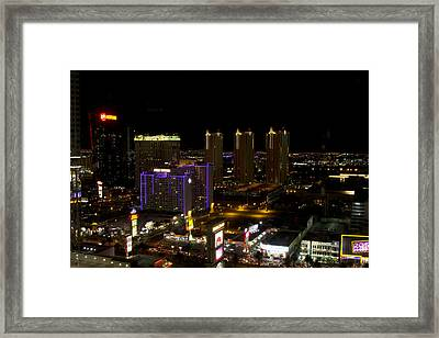 Strip View - Las Vegas Framed Print by Brendan Reals