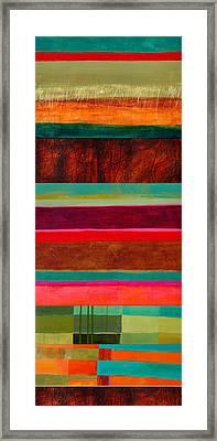 Stripe Assemblage 1 Framed Print by Jane Davies