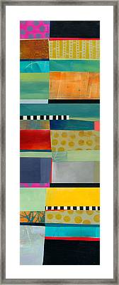 Stripe Assemblage 2 Framed Print by Jane Davies