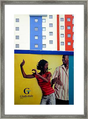 Stripe Dance Framed Print by Jez C Self
