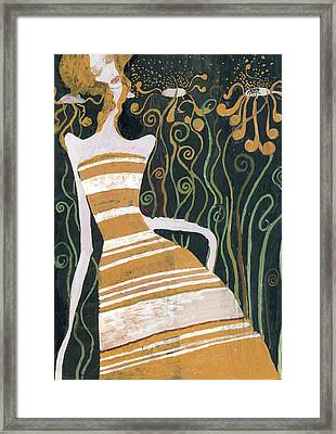 Stripe Dress Framed Print