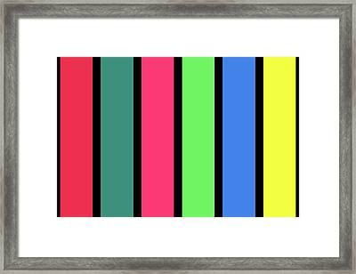 Stripe - Winter Framed Print
