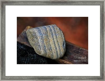 Striped Rock Framed Print