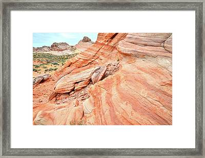 Framed Print featuring the photograph Striped Sandstone Along Park Road In Valley Of Fire by Ray Mathis