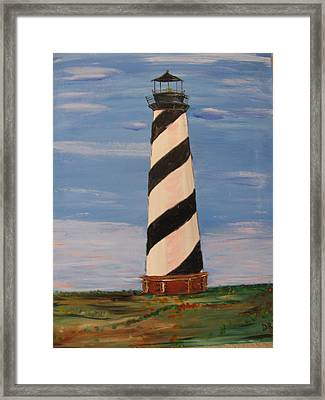 Striped Sentinal Framed Print by Dennis Poyant