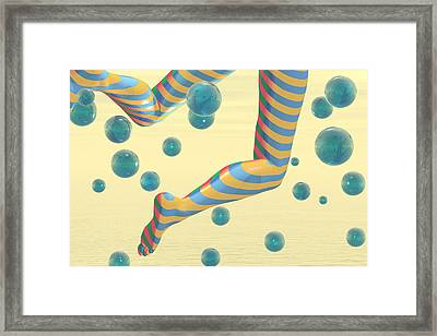 Striped Stockings Framed Print by Carol and Mike Werner
