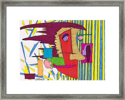 Striped Wallpaper Framed Print by Teddy Campagna