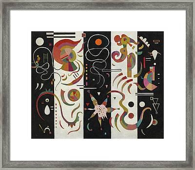 Striped Framed Print by Wassily Kandinsky