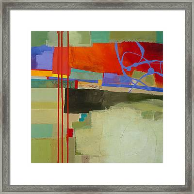 Stripes And Dips 2 Framed Print by Jane Davies
