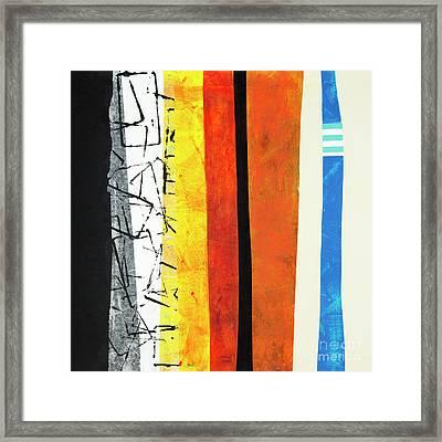 Framed Print featuring the mixed media Stripes by Elena Nosyreva