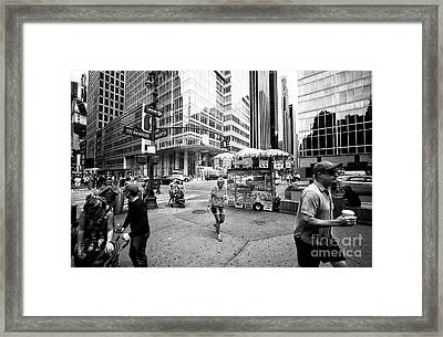 Framed Print featuring the photograph Stripes In The City by John Rizzuto
