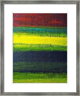 Stripes Number 3 Framed Print by Scott Haley