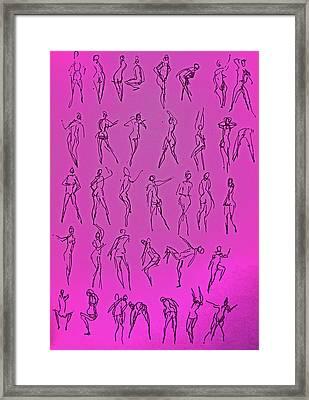 Stripper Gestures Framed Print
